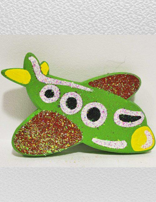 Aeroplano verde polistirolo decorazione baby party compleanni bambini