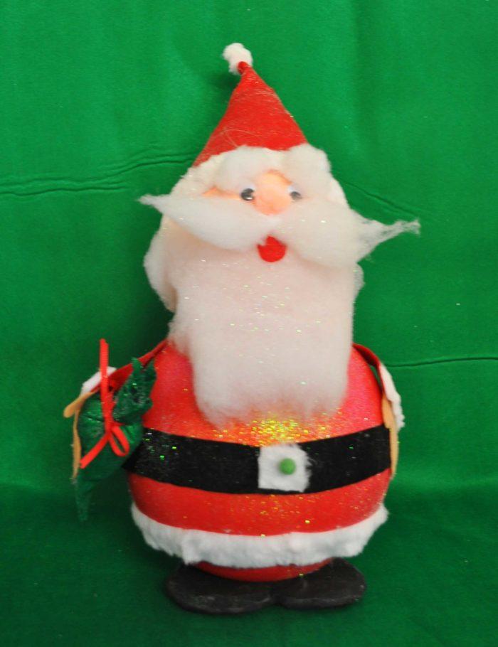 Decorazione in polistirolo a forma di Babbo Natale 3D