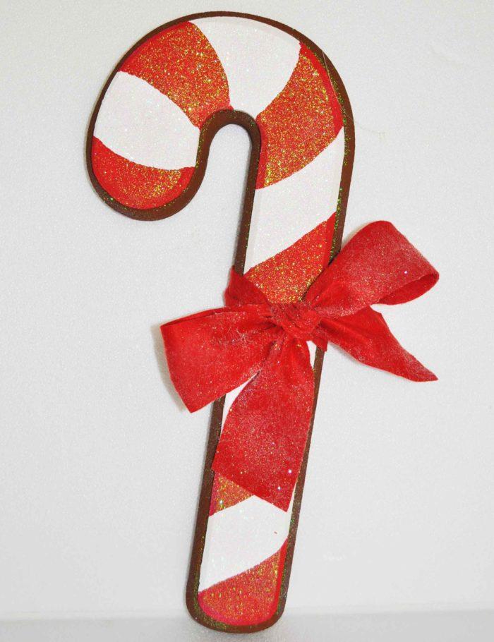 Candy Cane scuro altezza 55cm decorazione vetrine natale negozi
