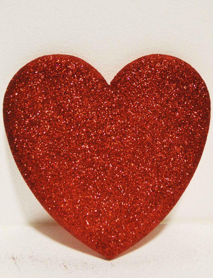 cuore rosso 30 cm decorazione vetrine negozi