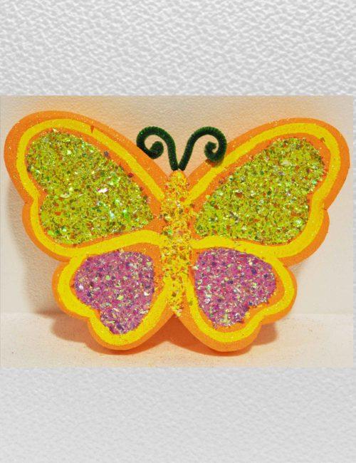 farfalla arancio piccola polistirolo decorazione vetrine primavera pasqua