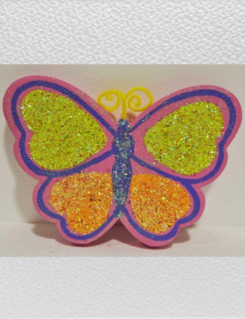 farfalla rosa grande decorazione polistirolo vetrine negozi pasqua