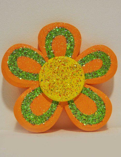 fiore arancio decorazione polistirolo allestimento vetrine primavera