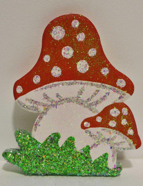 decorazione fungo polistirolo baby party
