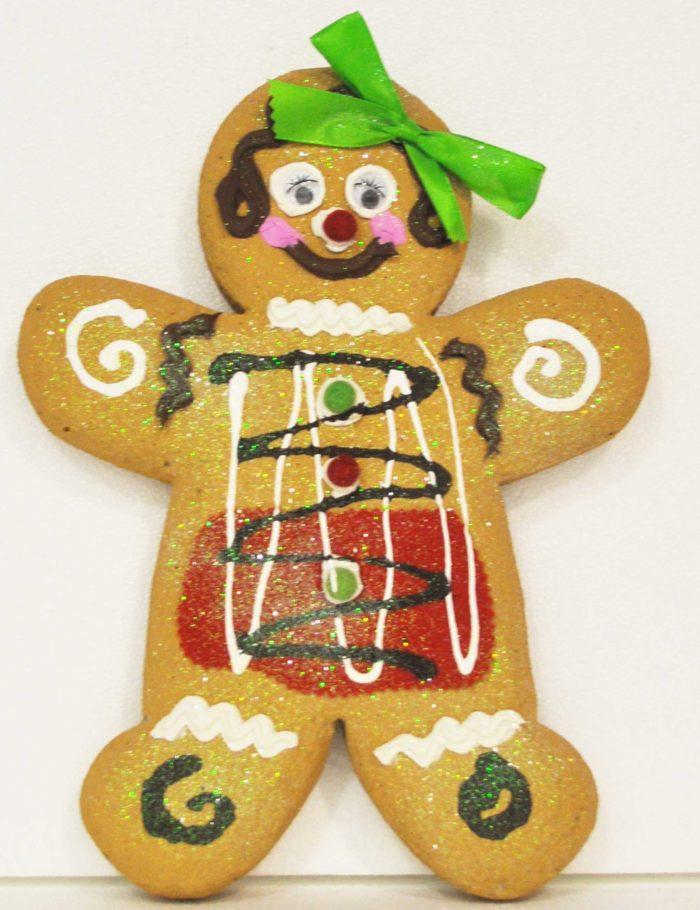 Gingerbread Chiaro altezza 35cm polistirolo decorazione natale vetrine negozi