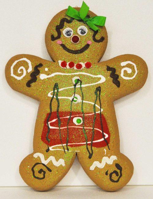 Gingerbread Chiaro femmina altezza 50cm decorazione natale vetrine negozi