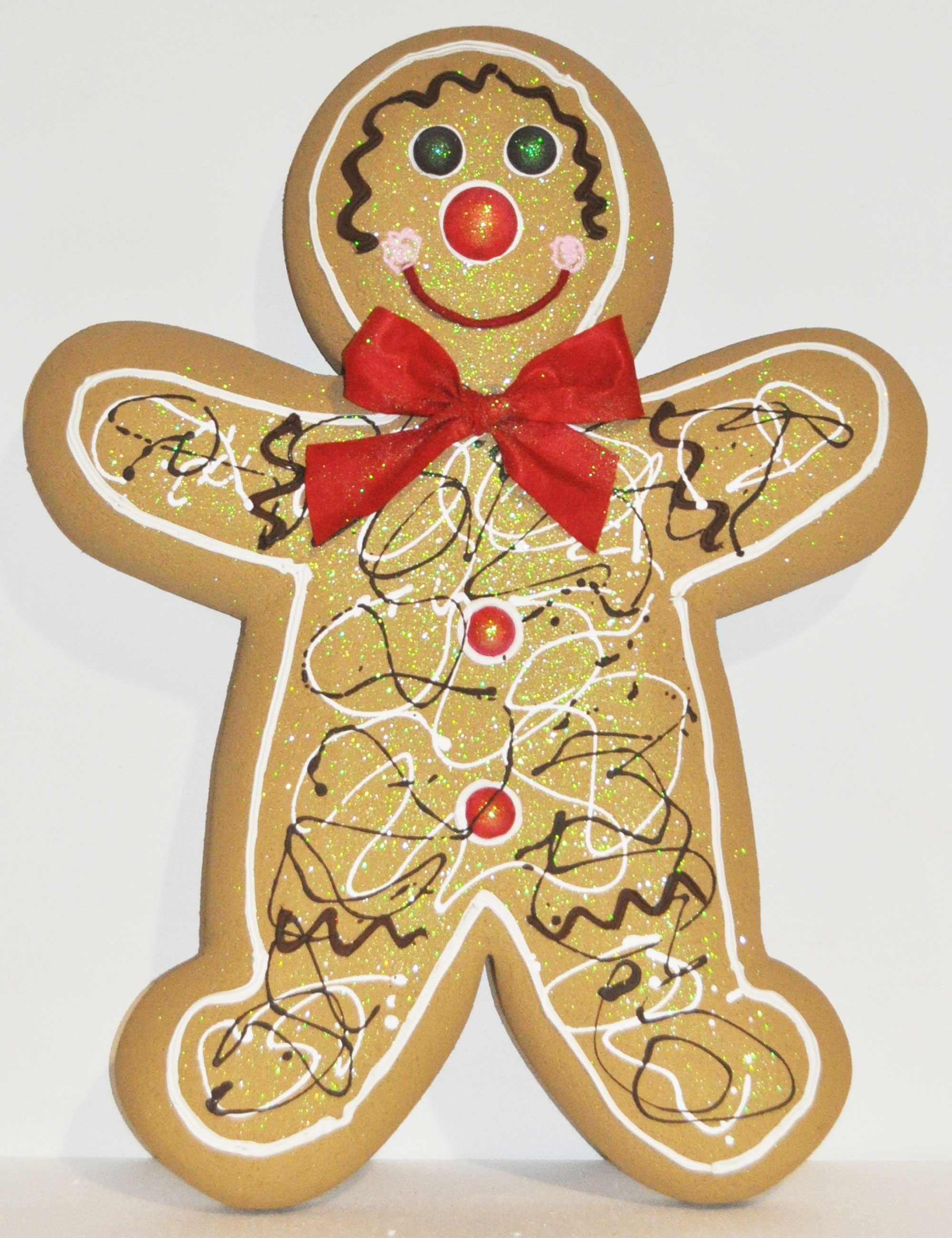 Gingerbread Chiaro maschio 1 altezza 100cm addobbi natale vetrine negozi
