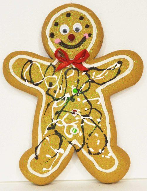 Gingerbread Chiaro maschio 1 altezza 35cm decorazione natale vetrine negozi
