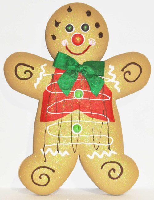 Gingerbread Chiaro maschio 2 altezza 100cm vetrine negozi natale
