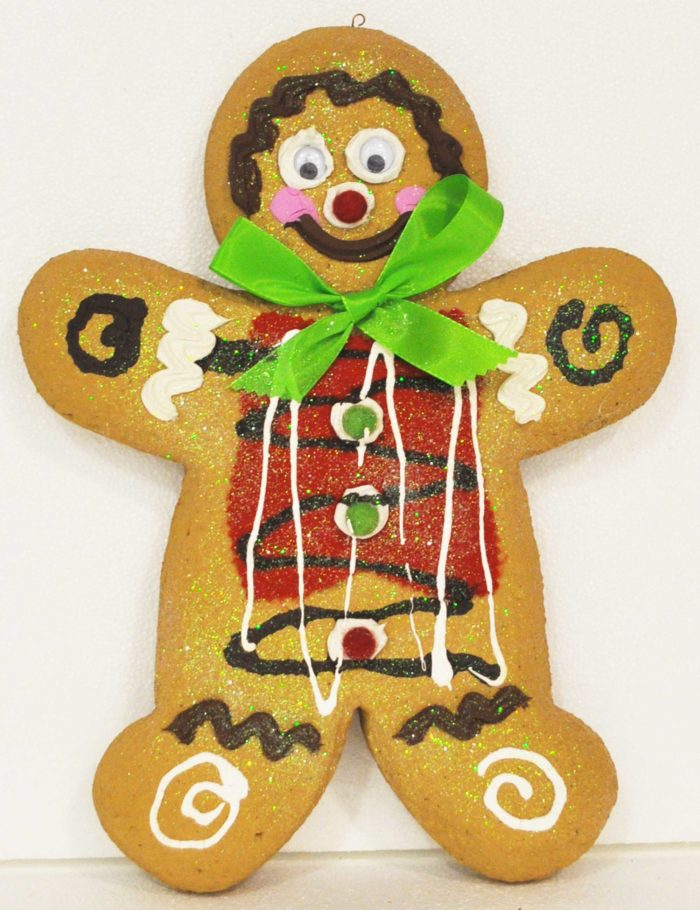 Gingerbread Chiaro maschio 2 altezza 35cm decorazione natale vetrine negozi