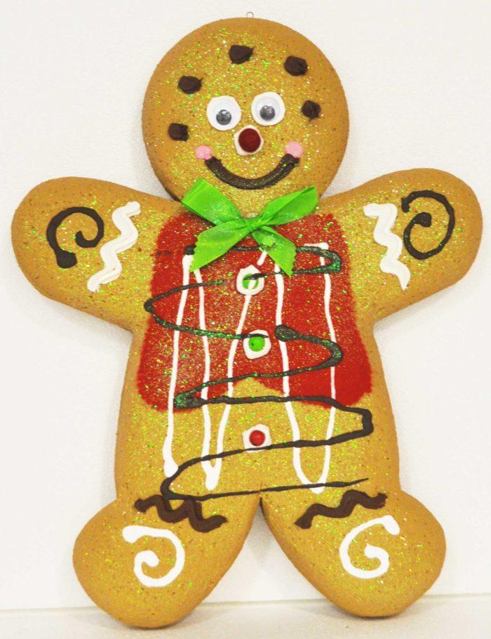 Gingerbread Chiaro maschio 2 altezza 50cm per vetrine negozi natale