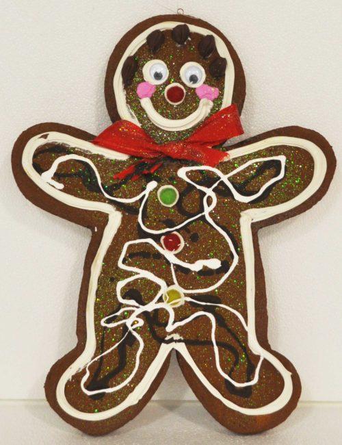 Gingerbread Scuro maschio 1 altezza 35cm decorazione natale vetrine negozi
