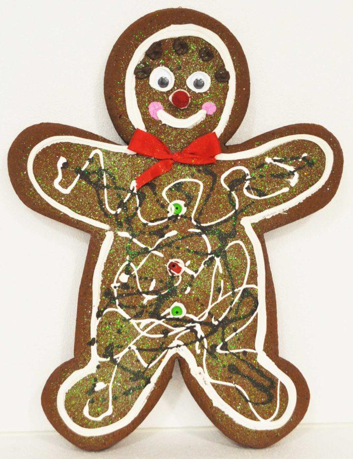 Gingerbread Scuro maschio 1 altezza 50cm allestimento vetrine natale