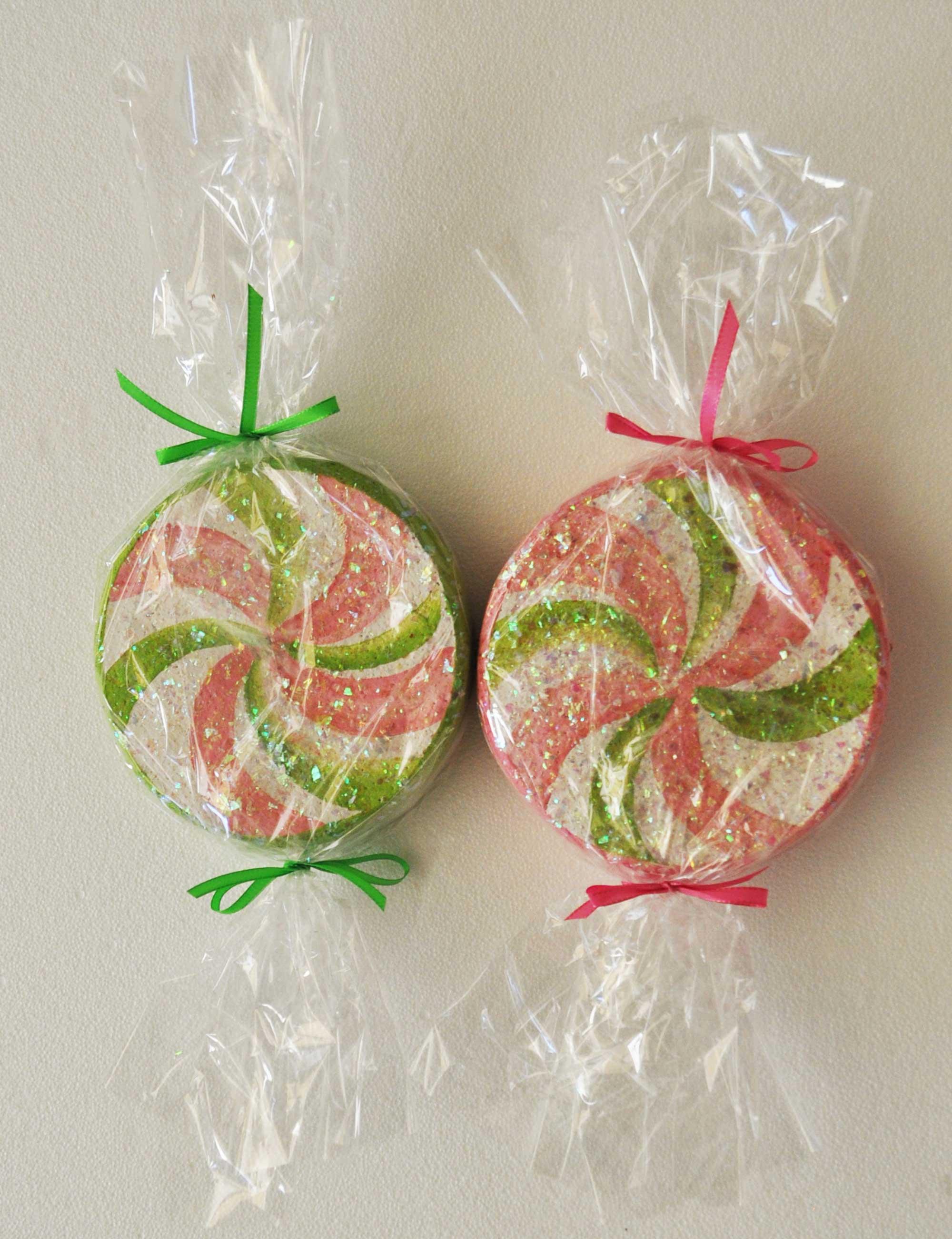 Kit 2 Caramelle rosa verde 20 cm