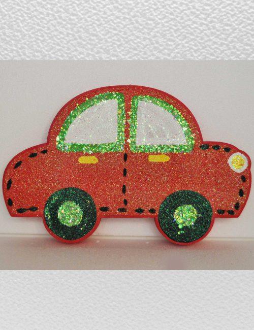 macchinina rossa decorazione addobbo feste bambini