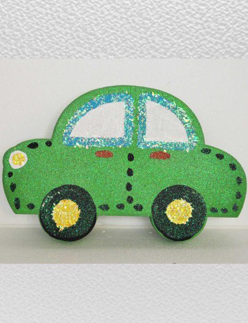 macchinina verde decorazione feste bambini