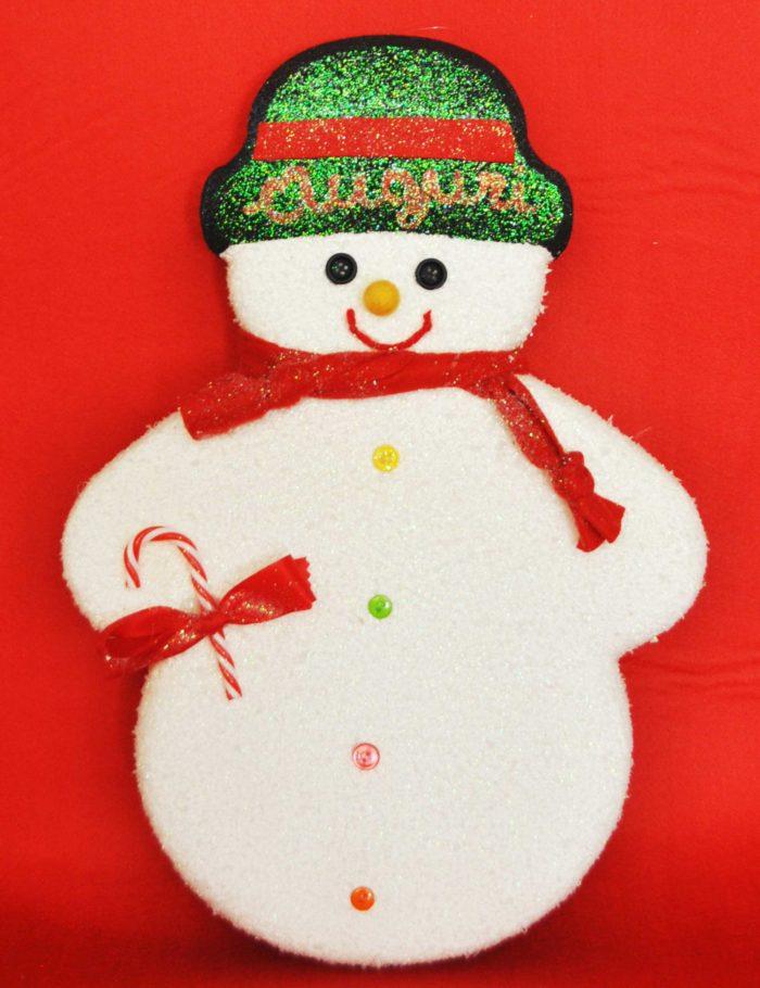 pupazzo neve cappello nero decorazione Natale vetrine negozi