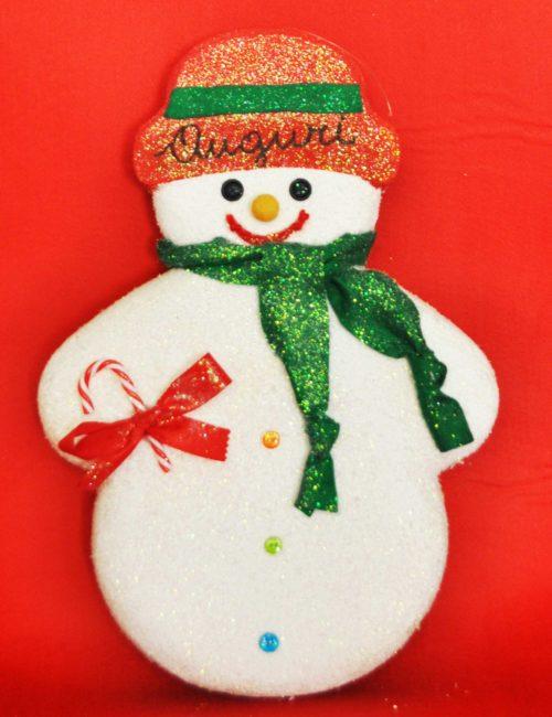 pupazzo neve cappello rosso decorazione natale vetrine negozi