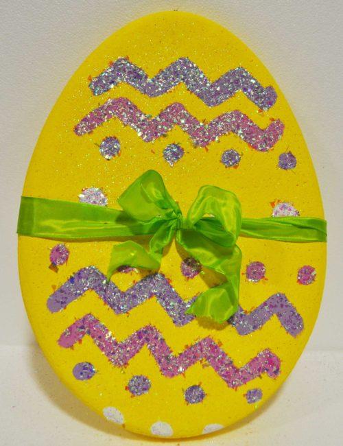 uovo pasqua giallo grande polistirolo addobbi vetrine