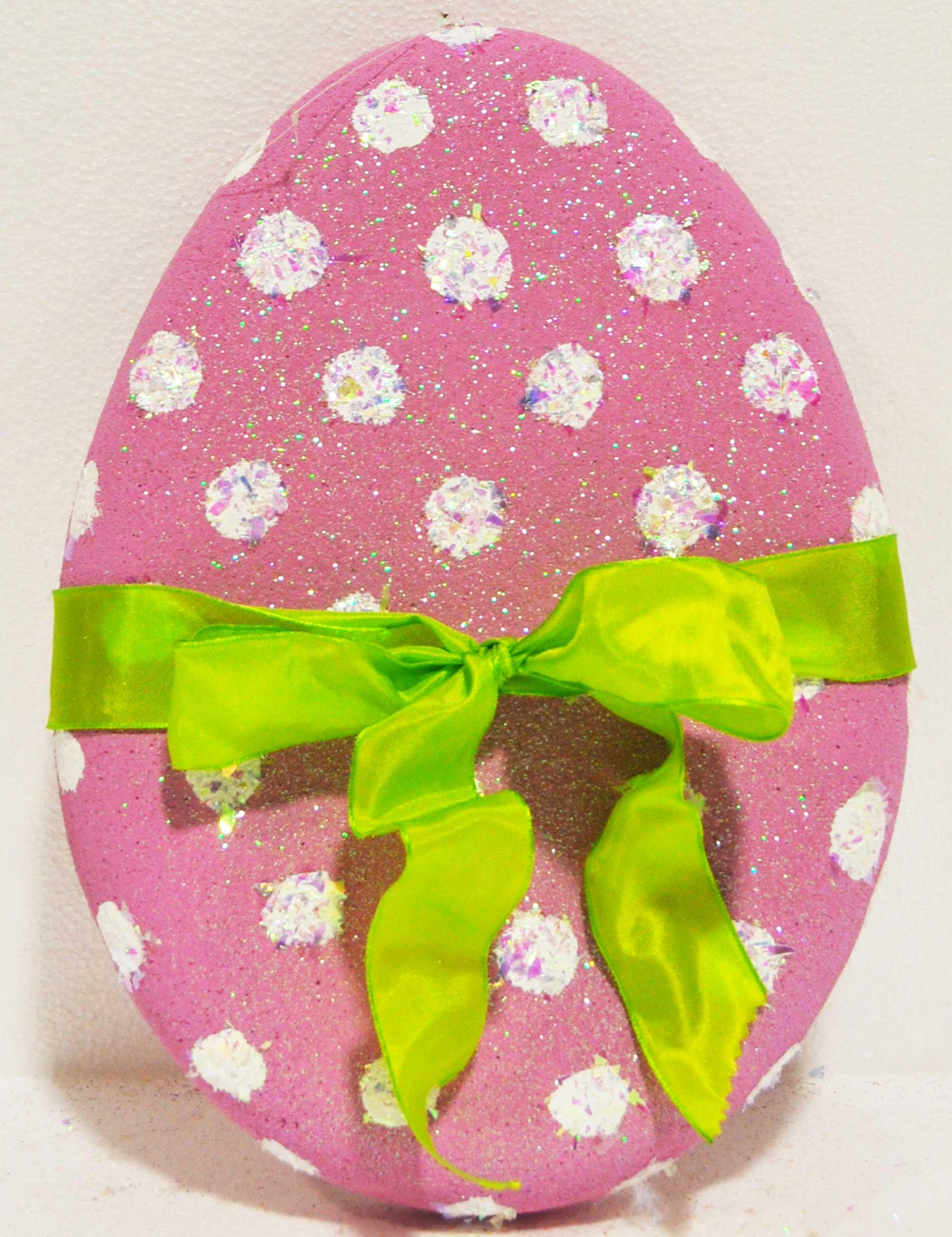 uovo rosa piccolo pasqua decorazione vetrine negozi