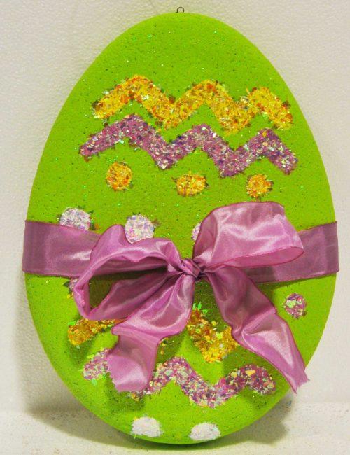 uovo pasqua verde piccolo decorazione vetrine negozi