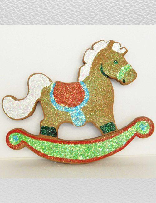 cavallino marrone decorazione polistirolo festa bambini