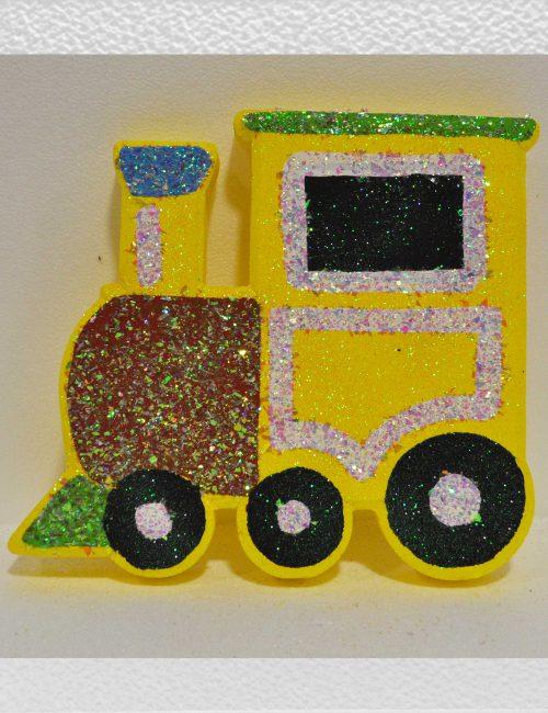 trenino polistirolo giallo decorazione compleanni bambini